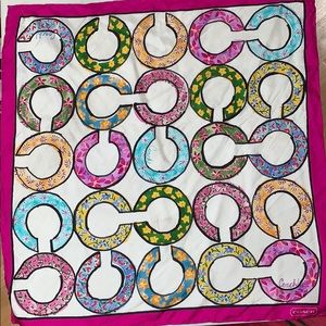 Coach silk logo scarf
